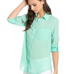 Garage chiffon mint green blouse